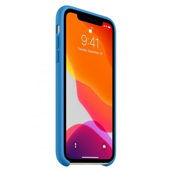 Чехол Silicone Case iPhone 11 синяя волна