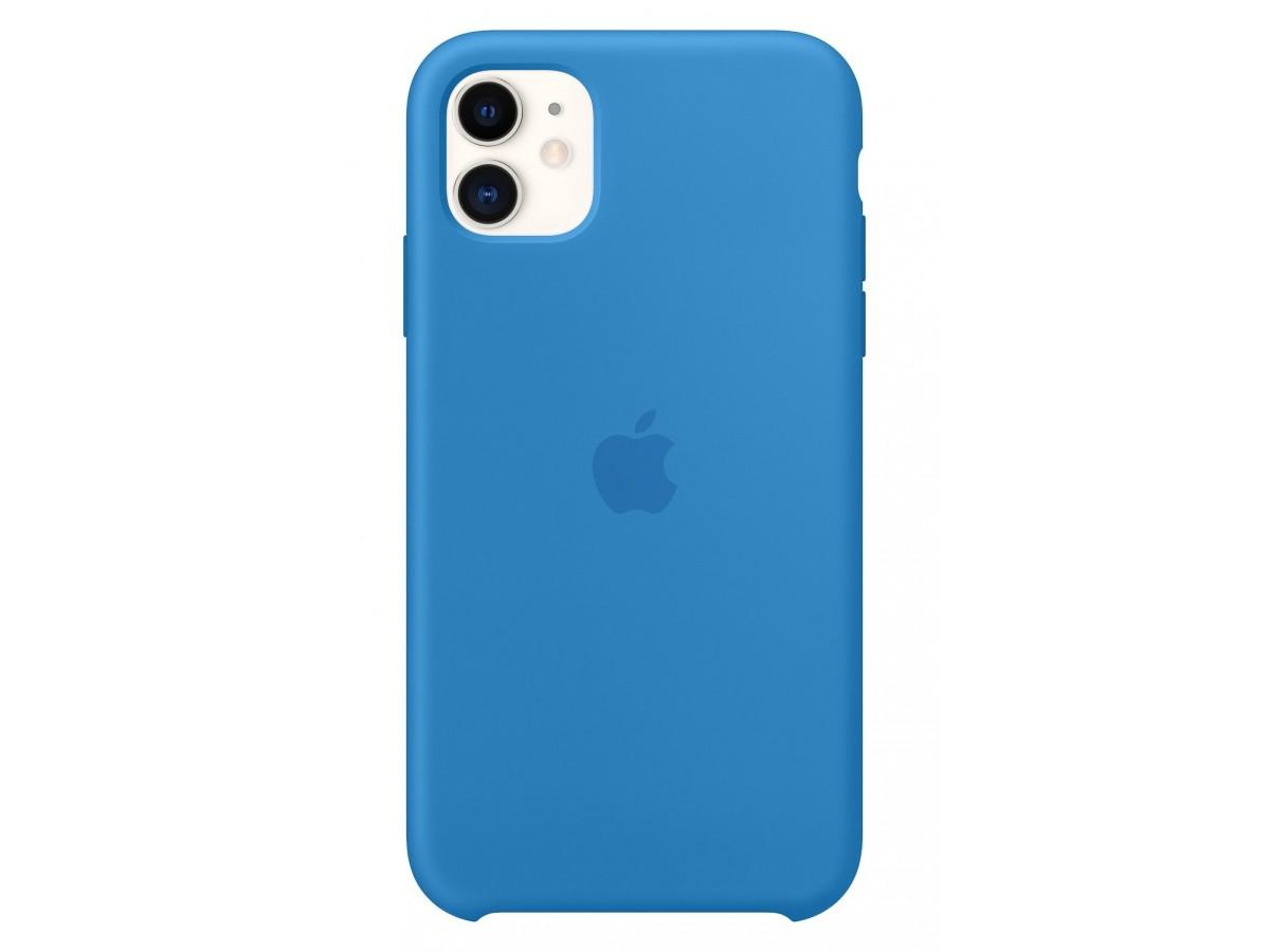 Чехол Silicone Case iPhone 11 синяя волна в Тюмени
