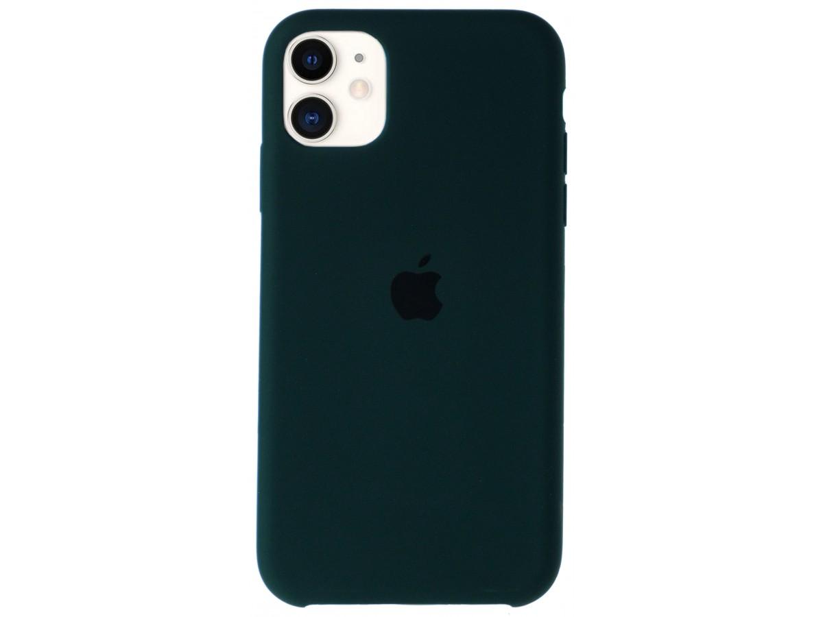 Чехол Silicone Case для iPhone 11 темно-зеленый в Тюмени