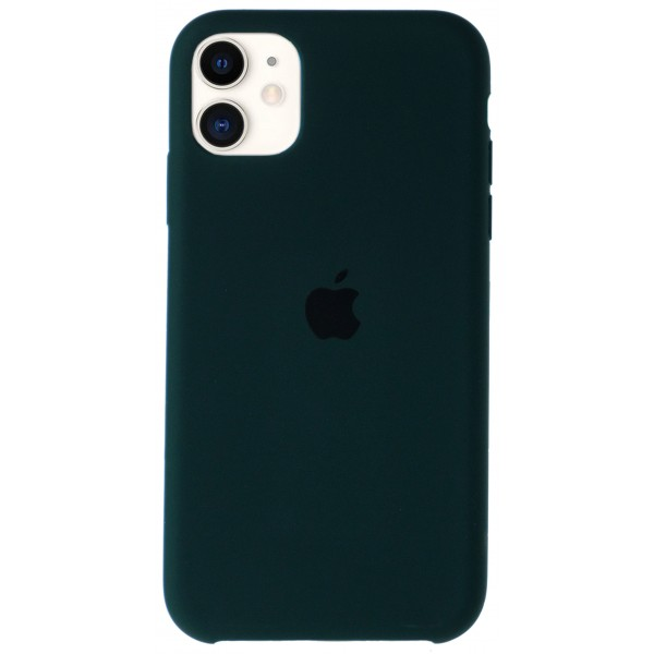 Чехол Silicone Case для iPhone 11 темно-зеленый