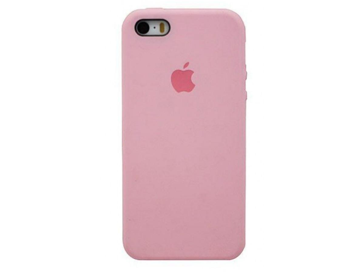 Чехол Silicone Case для iPhone 5/5s/SE розовый в Тюмени