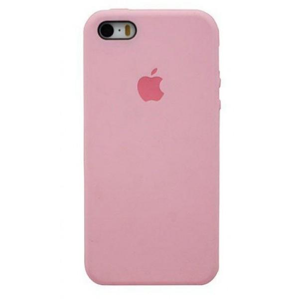 Чехол Silicone Case для iPhone 5/5s/SE розовый