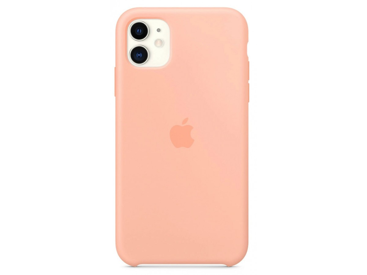 Чехол Silicone Case iPhone 11 розовый грейпфрут в Тюмени