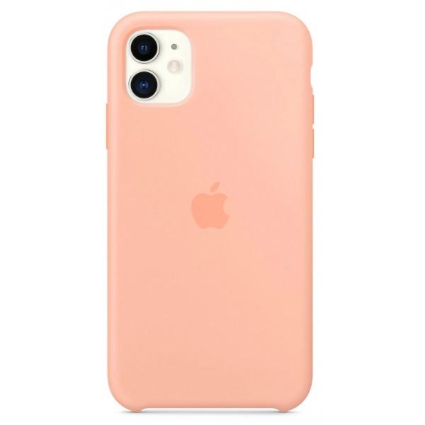 Чехол Silicone Case iPhone 11 розовый грейпфрут