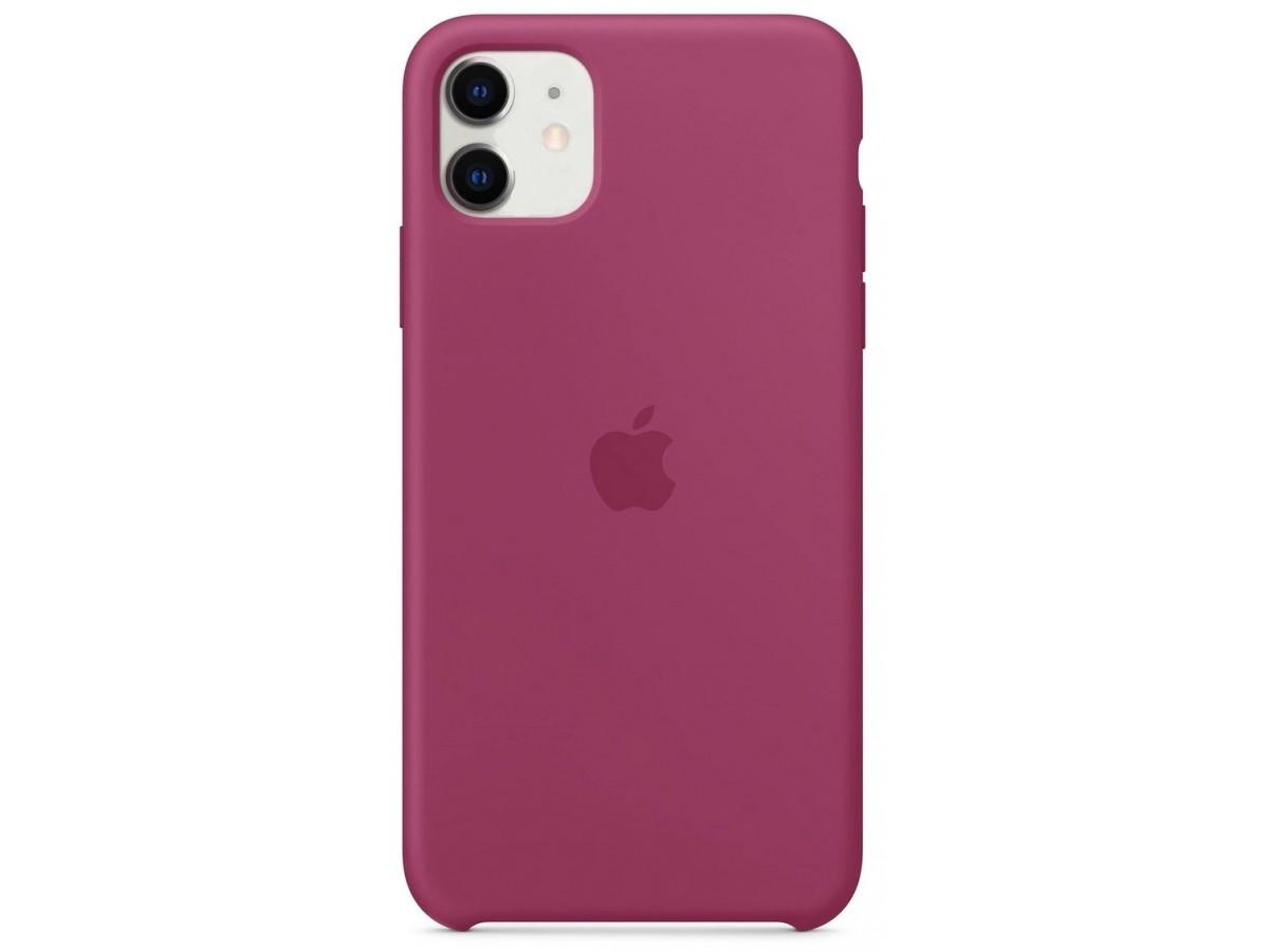 Чехол Silicone Case качество Lux для iPhone 11 сочный гранат в Тюмени