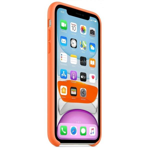Чехол Silicone Case качество Lux для iPhone 11 оранжевый витамин
