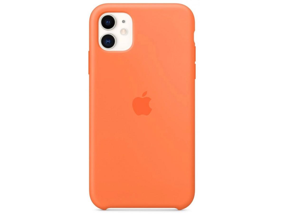 Чехол Silicone Case iPhone 11 оранжевый витамин в Тюмени