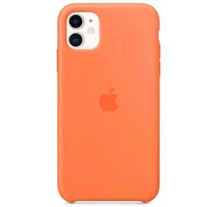 Чехол Silicone Case качество Lux для iPhone 11 оранжевы...