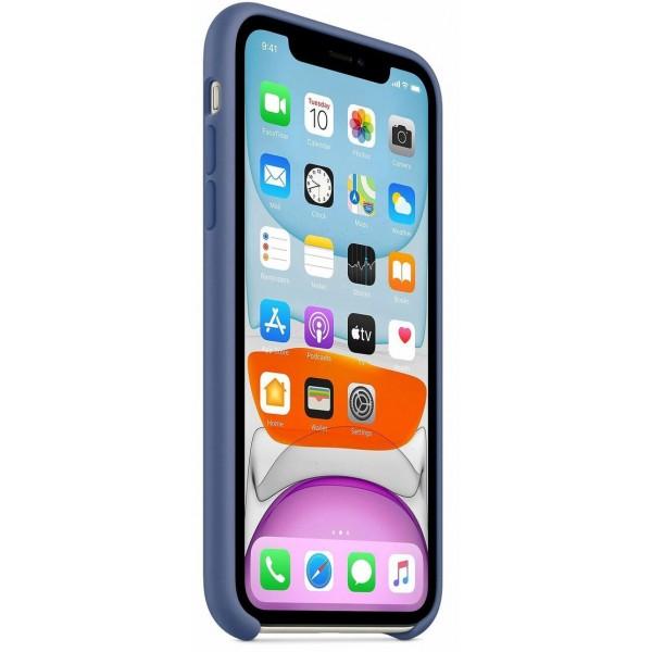 Чехол Silicone Case качество Lux для iPhone 11 синий лен