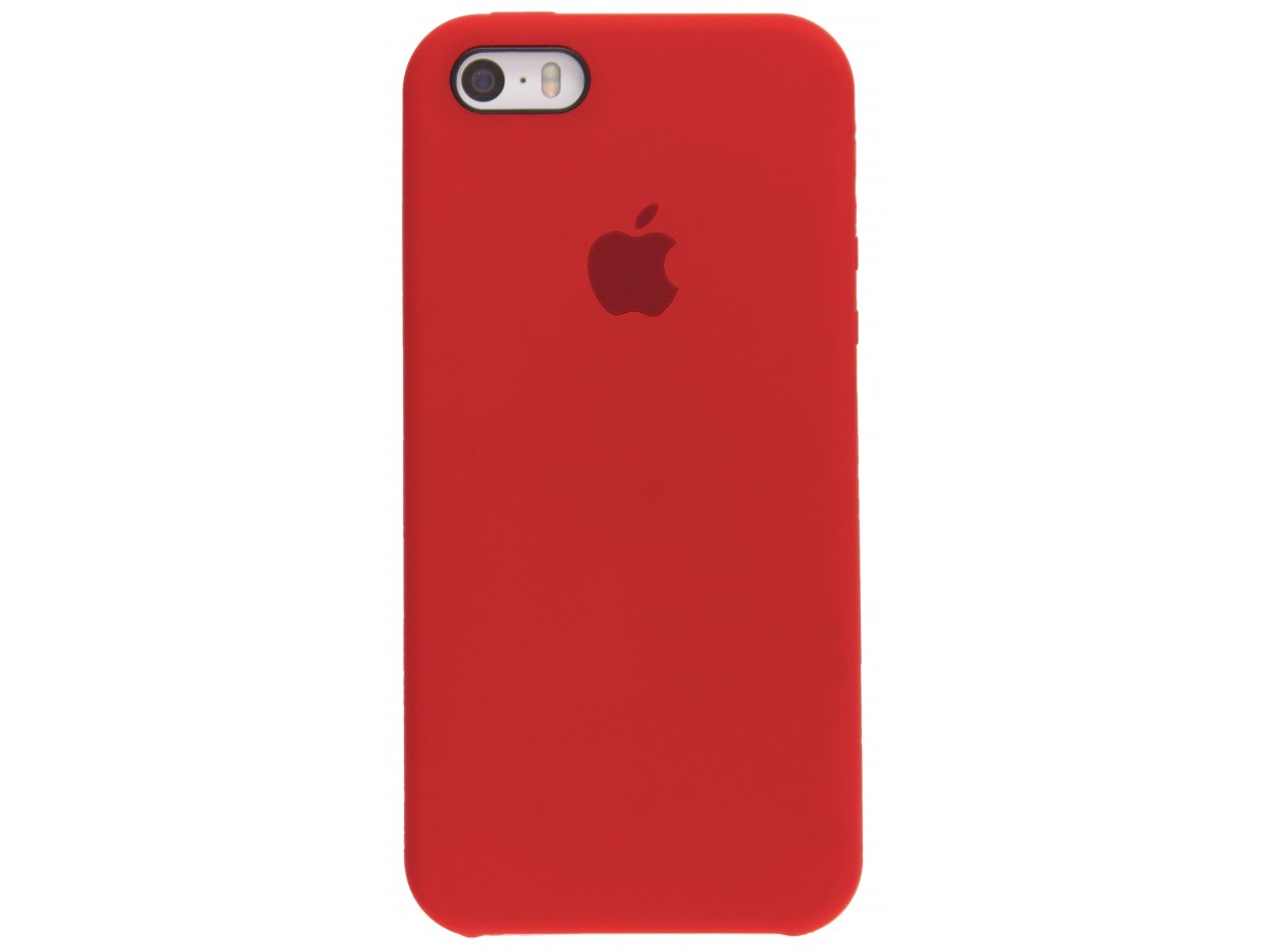 Чехол Silicone Case iPhone 5s/SE красный
