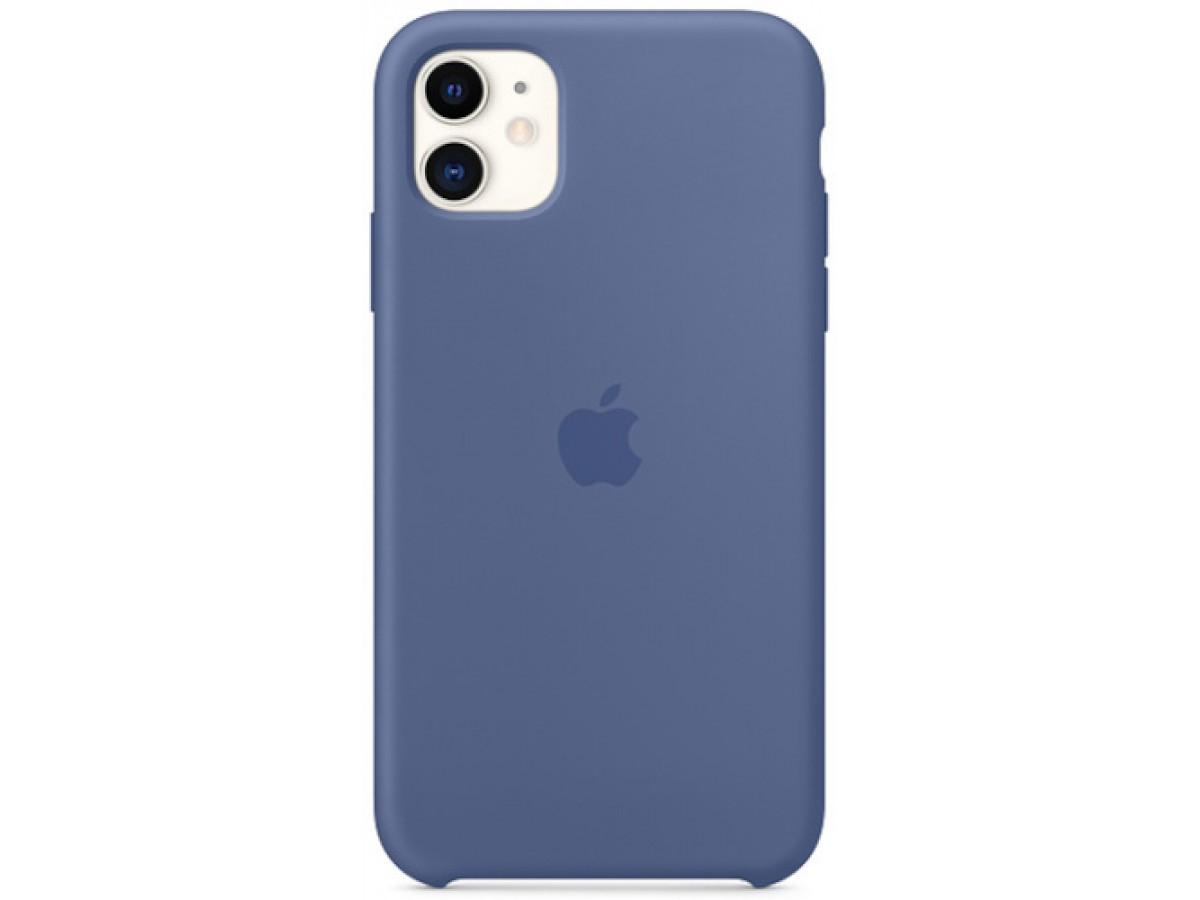 Чехол Silicone Case качество Lux для iPhone 11 синий лен в Тюмени