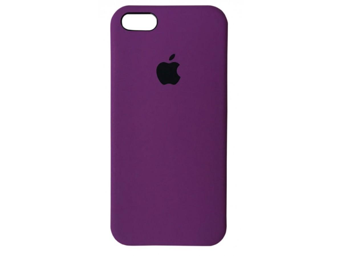 Чехол Silicone Case для iPhone 5/5s/SE фиолетовый в Тюмени