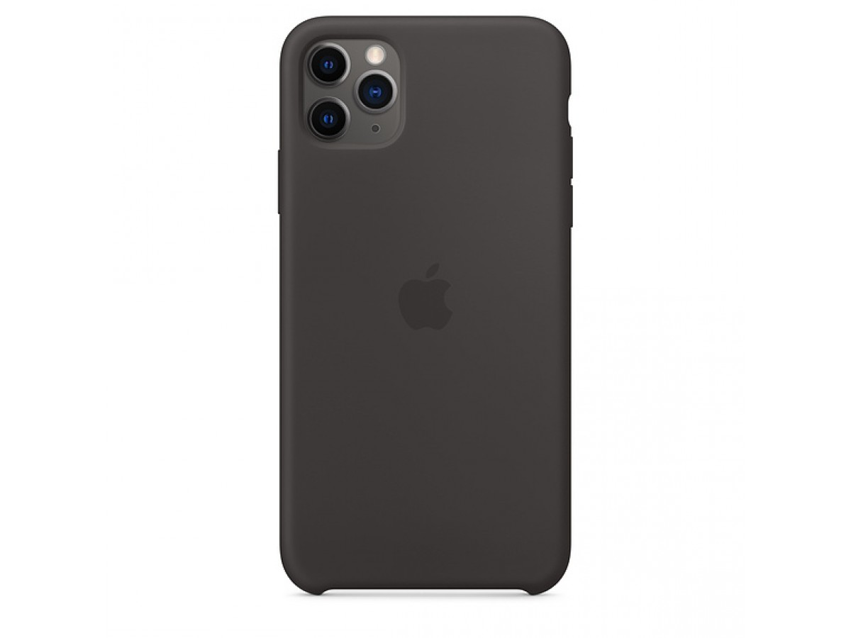 Чехол Silicone Case iPhone 11 Pro Max черный в Тюмени