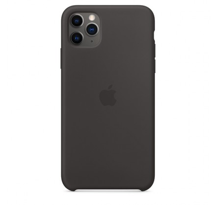 Чехол Silicone Case iPhone 11 Pro Max черный