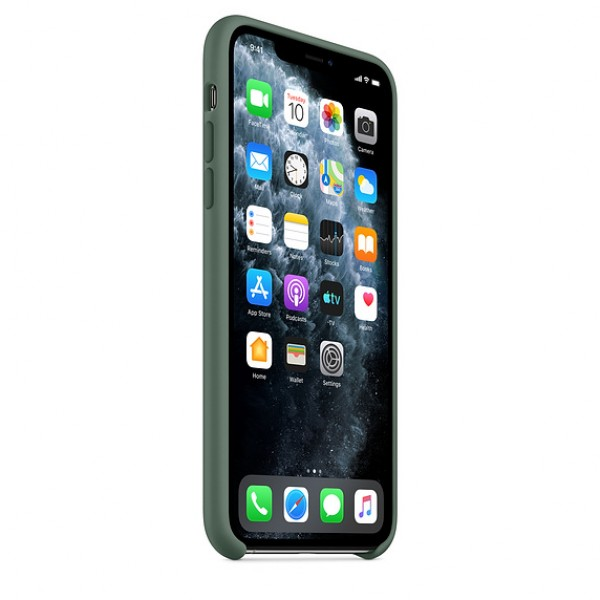 Чехол Silicone Case iPhone 11 Pro темно-зеленый