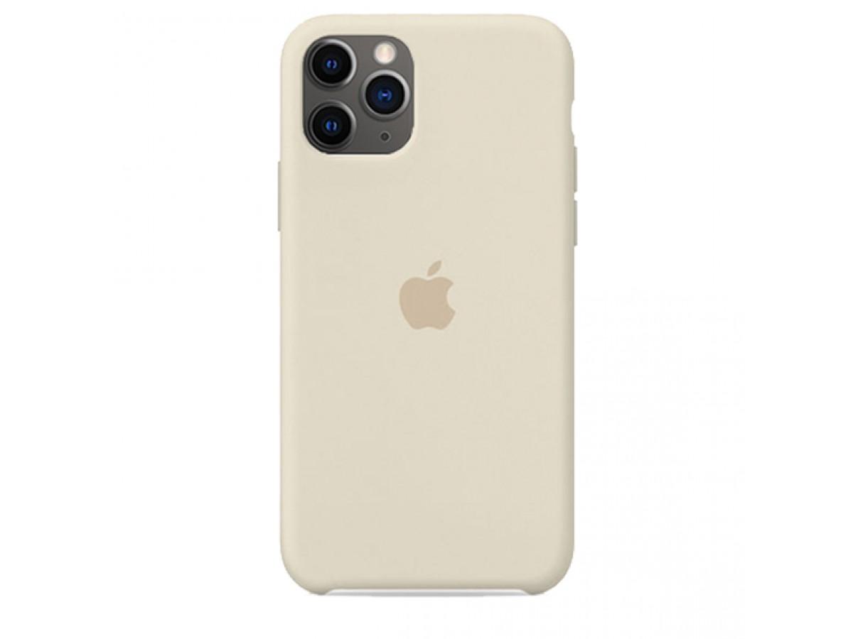 Чехол Silicone Case iPhone 11 Pro Max бежевый в Тюмени