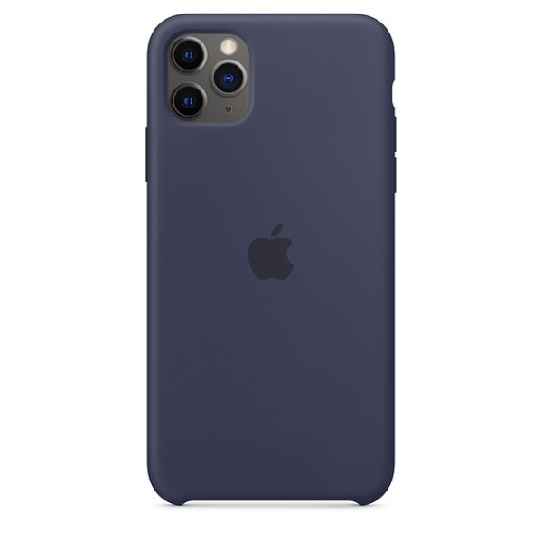 Чехол Silicone Case iPhone 11 Pro Max темно-синий