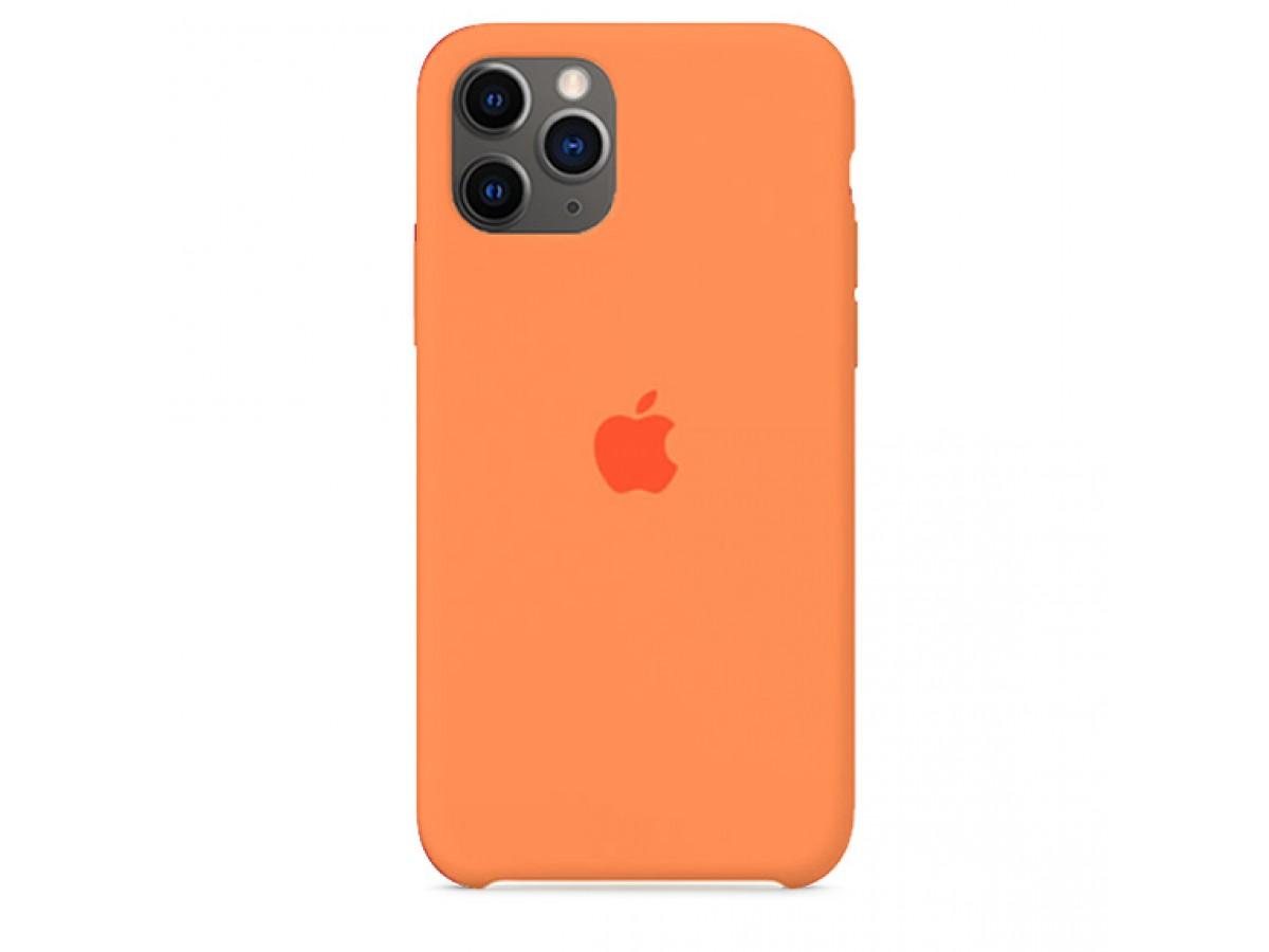 Чехол Silicone Case iPhone 11 Pro Max оранжевый в Тюмени