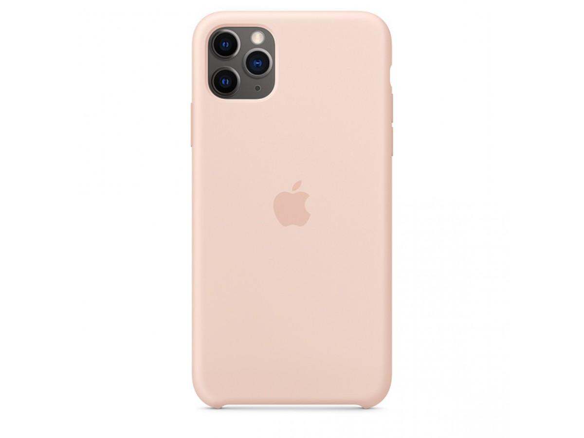 Чехол Silicone Case iPhone 11 Pro светло-розовый в Тюмени
