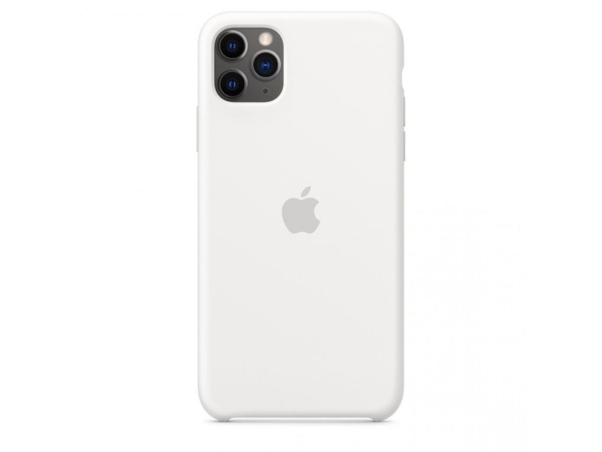 Чехол Silicone Case iPhone 11 Pro белый в Тюмени