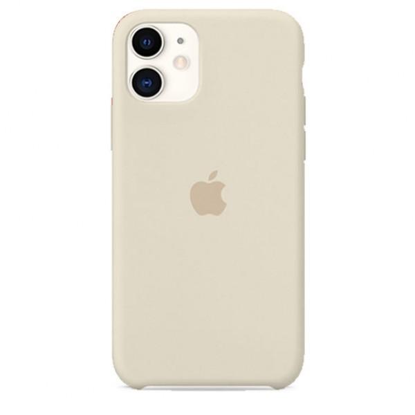 Чехол Silicone Case iPhone 11 бежевый