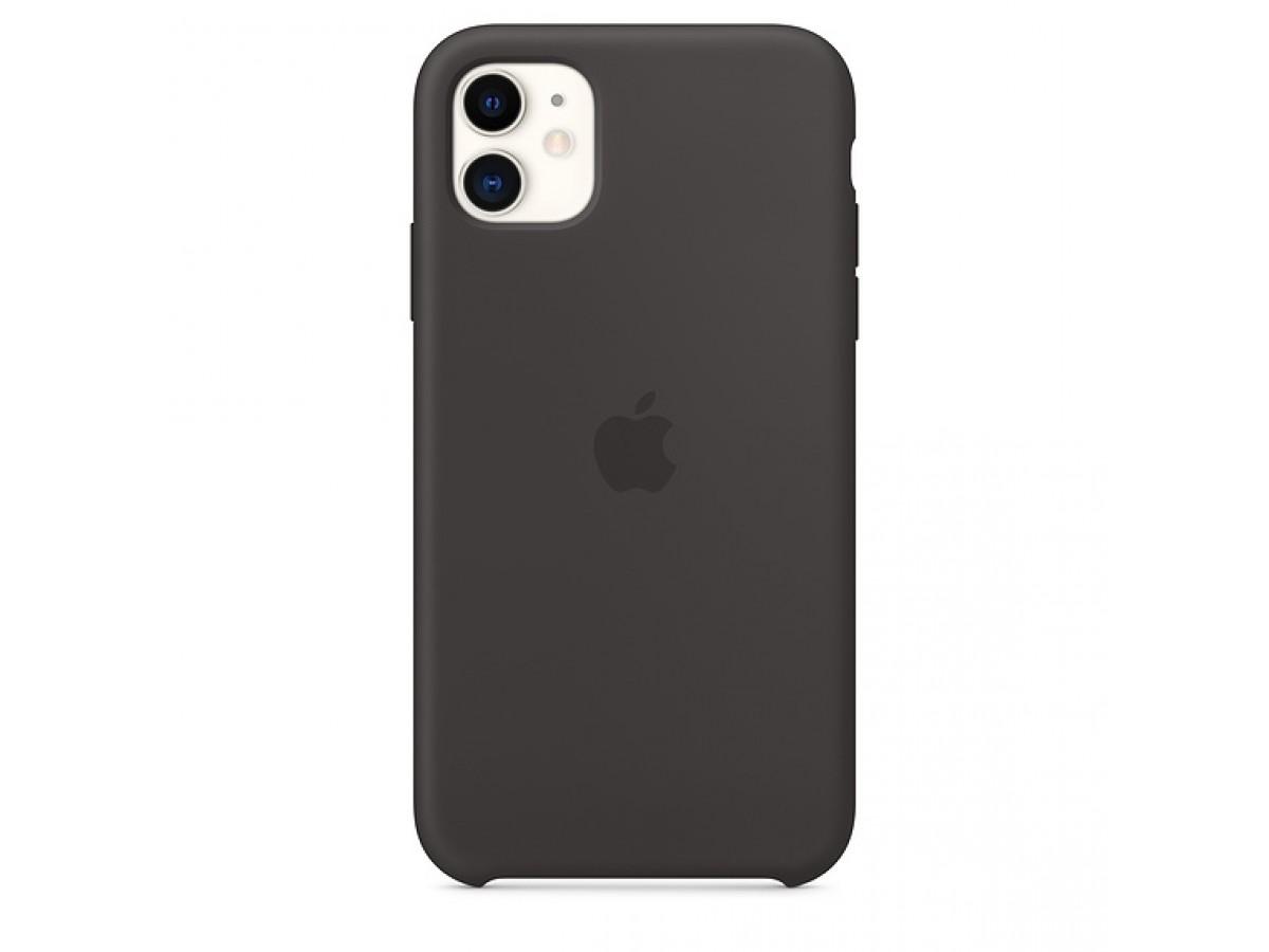 Чехол Silicone Case iPhone 11 черный в Тюмени