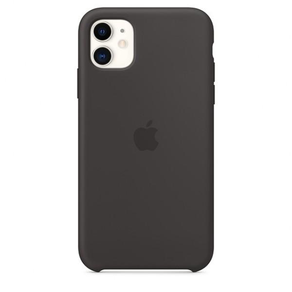 Чехол Silicone Case iPhone 11 черный