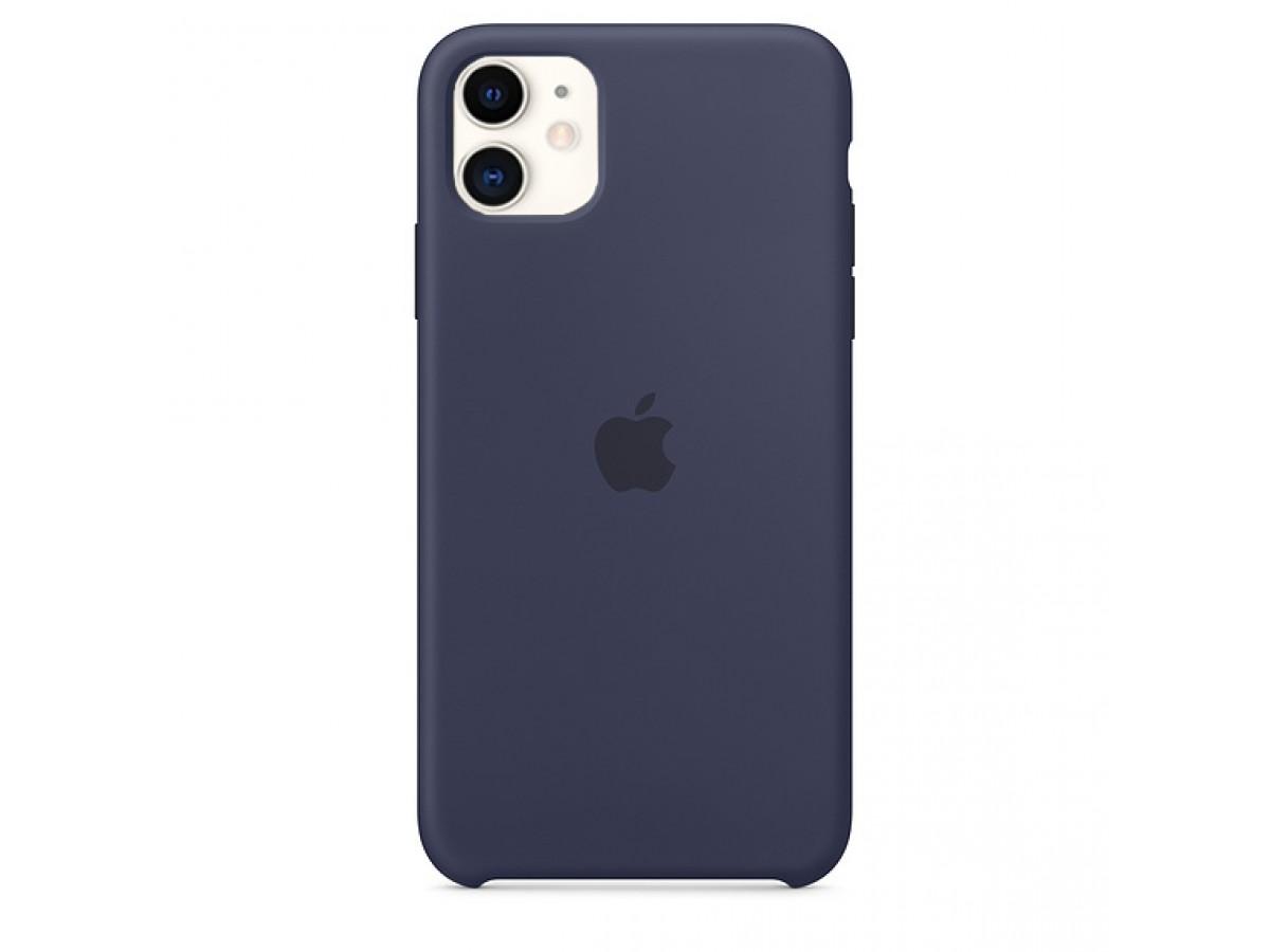 Чехол Silicone Case iPhone 11 темно-синий в Тюмени