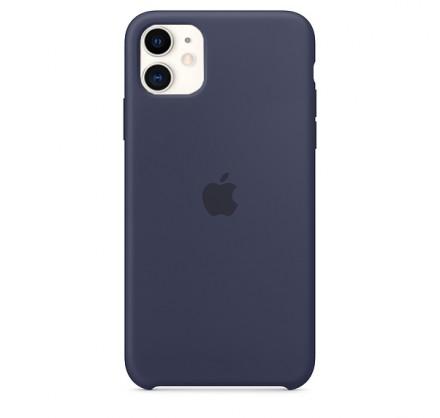 Чехол Silicone Case iPhone 11 темно-синий