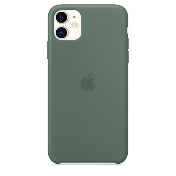 Чехол Silicone Case iPhone 11 темно-зеленый