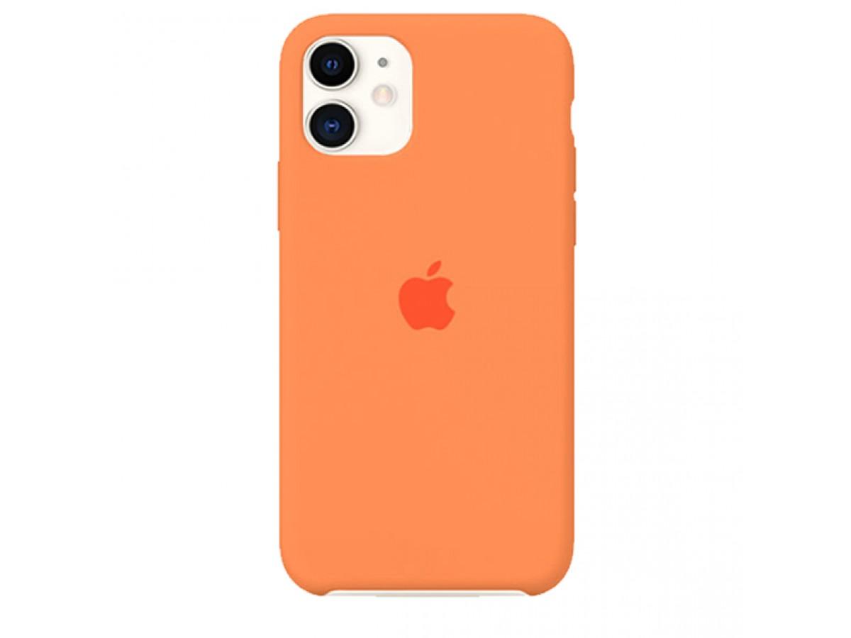 Чехол Silicone Case качество Lux для iPhone 11 оранжевый в Тюмени