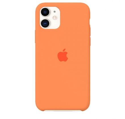 Чехол Silicone Case iPhone 11 оранжевый