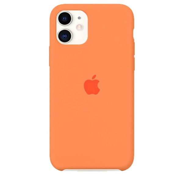 Чехол Silicone Case качество Lux для iPhone 11 оранжевый