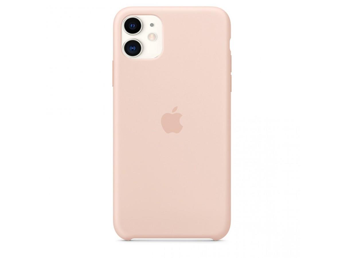 Чехол Silicone Case iPhone 11 светло-розовый в Тюмени