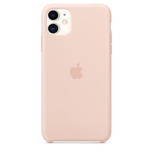 Чехол Silicone Case iPhone 11 светло-розовый