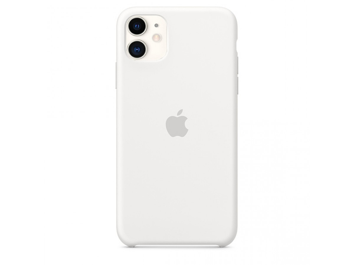 Чехол Silicone Case iPhone 11 белый в Тюмени