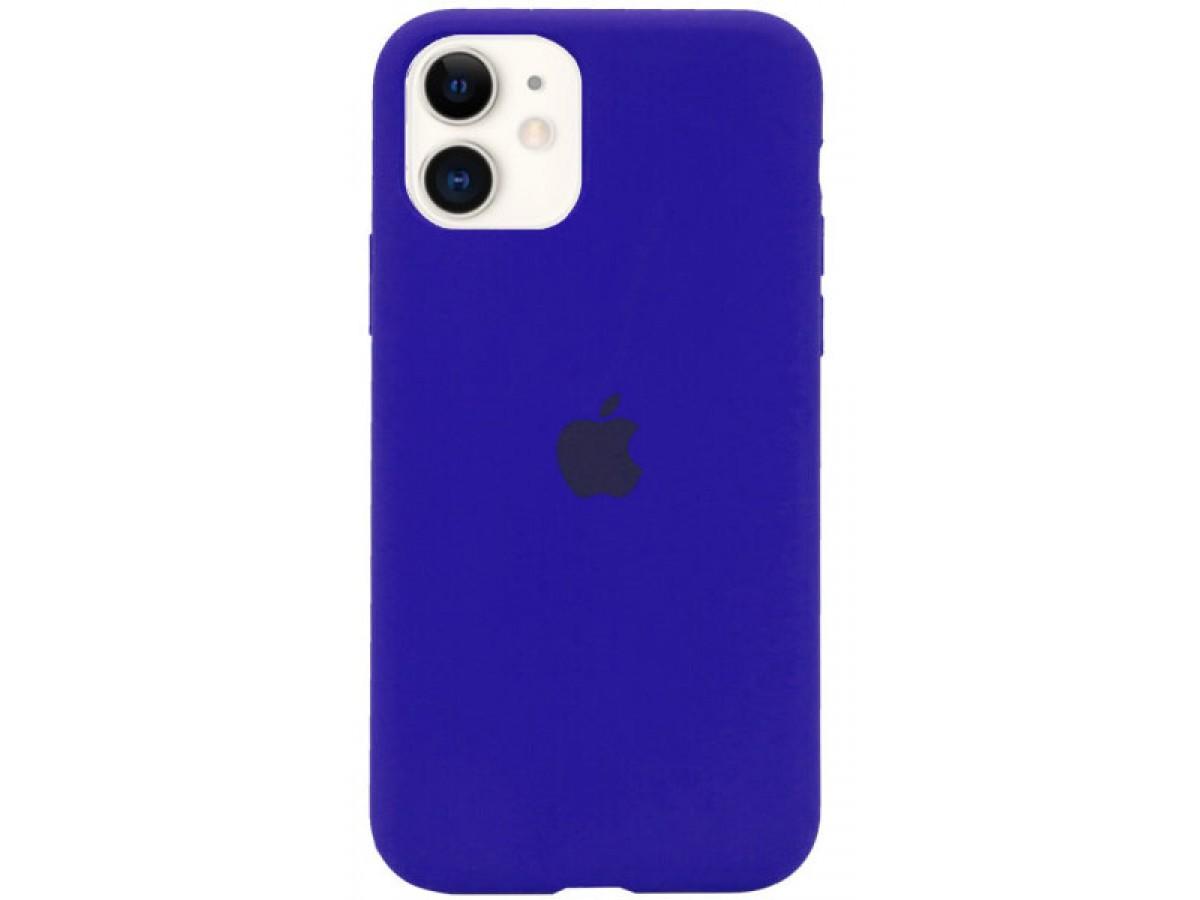 Чехол Silicone Case для iPhone 11 синий неон в Тюмени