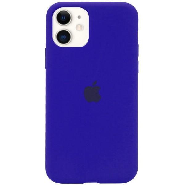 Чехол Silicone Case для iPhone 11 синий неон
