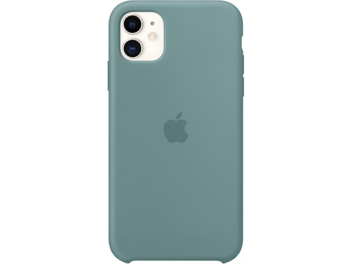 Чехол Silicone Case качество Lux для iPhone 11 дикий кактус в Тюмени