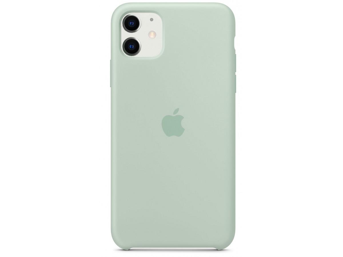 Чехол Silicone Case iPhone 11 голубой берилл в Тюмени