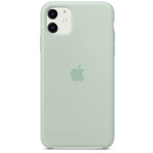 Чехол Silicone Case iPhone 11 голубой берилл