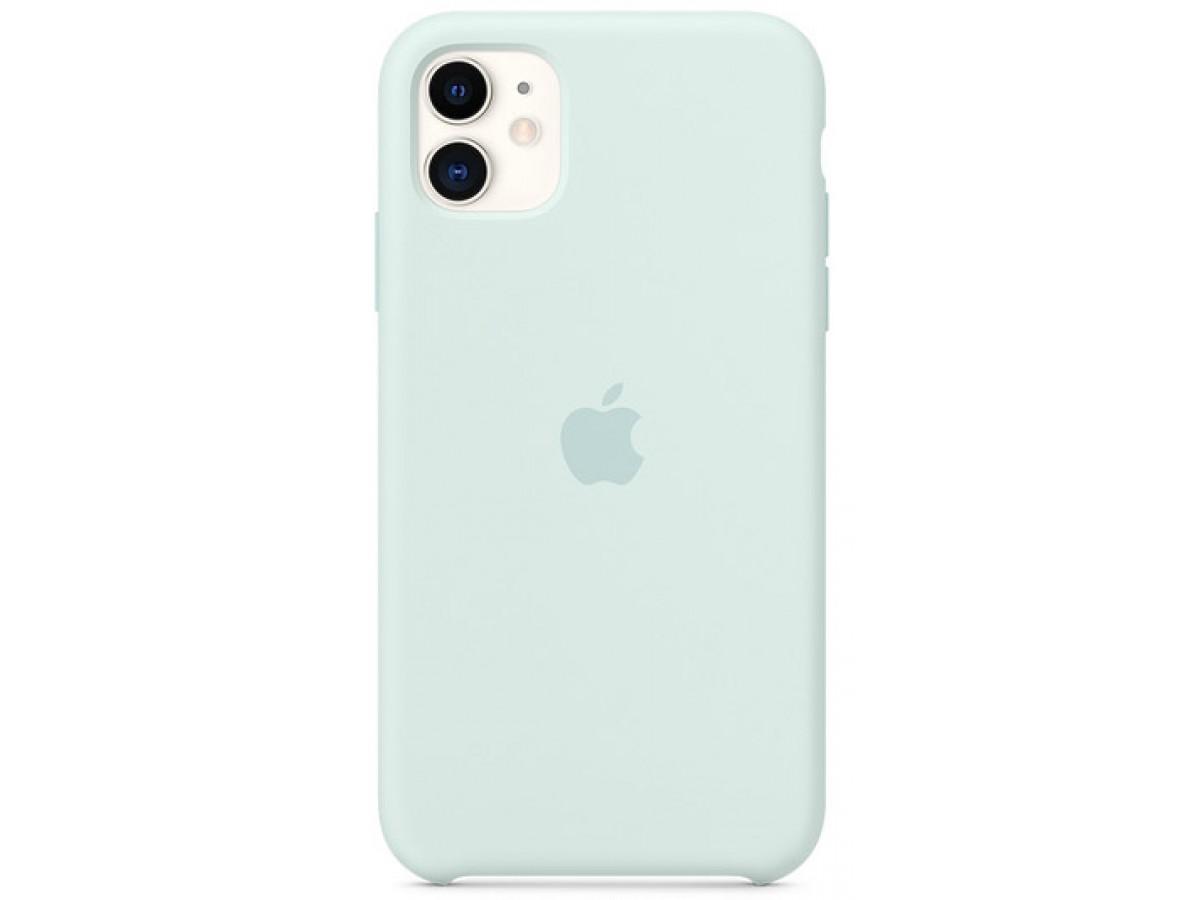 Чехол Silicone Case iPhone 11 морская пена в Тюмени