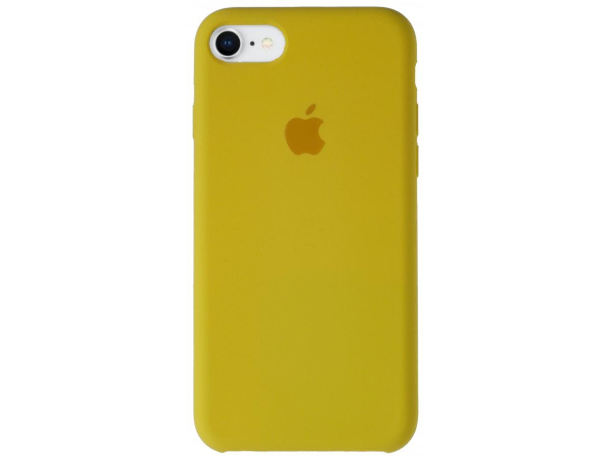Чехол Silicone Case для iPhone 7/8 желтый в Тюмени