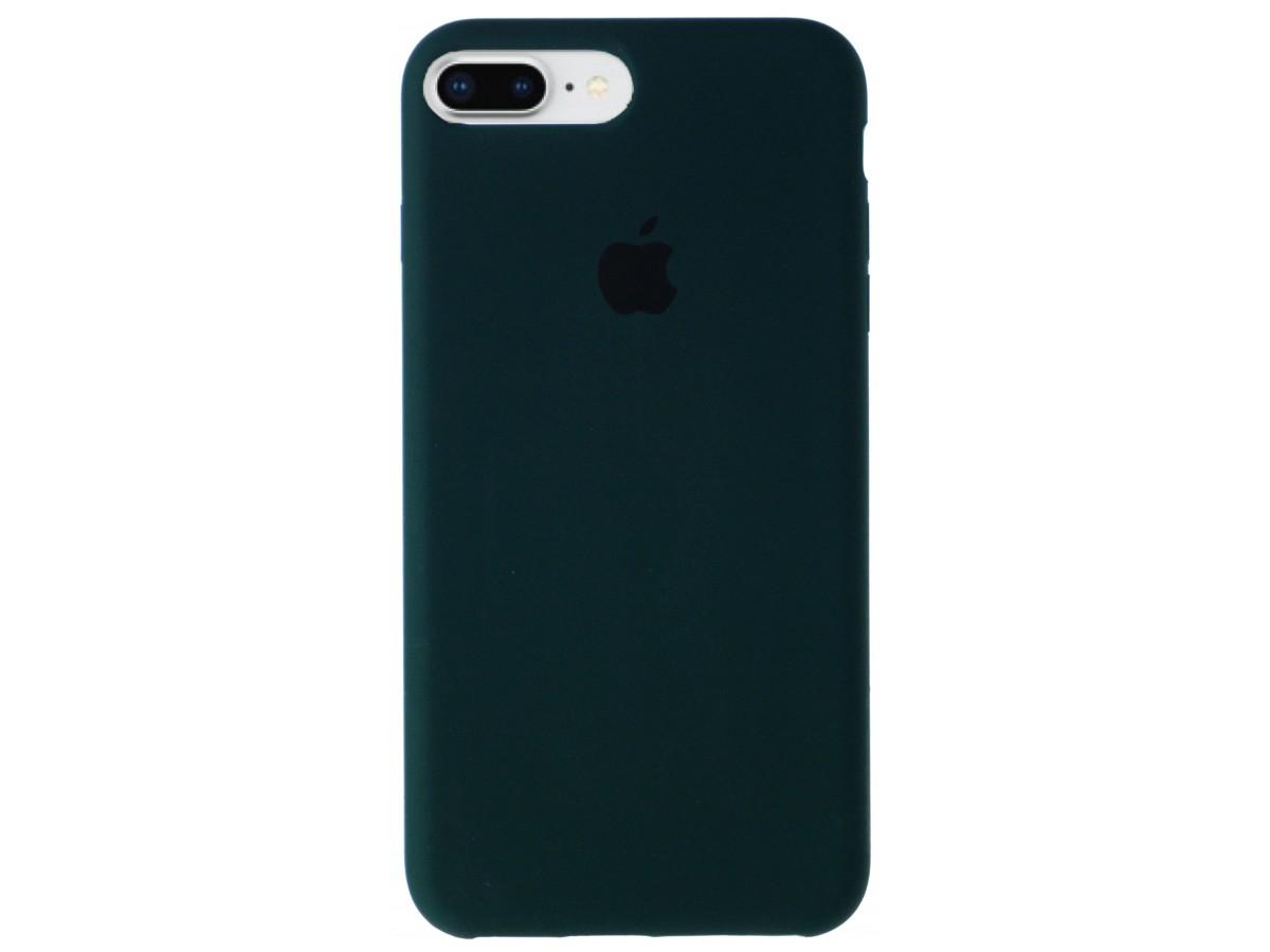 Чехол Silicone Case для iPhone 7 Plus/8 Plus темно-зеленый в Тюмени