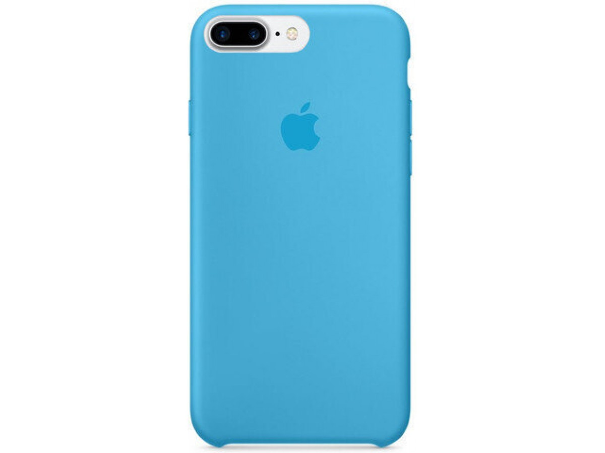 Чехол Silicone Case для iPhone 7 Plus/8 Plus голубой в Тюмени