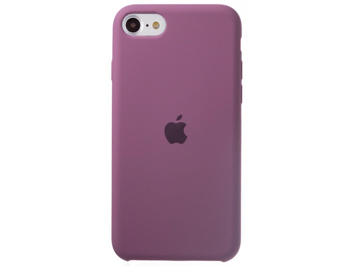 Чехол Silicone Case для iPhone SE 2020 черничный в Тюмени