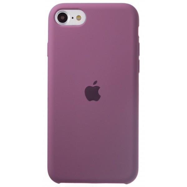 Чехол Silicone Case для iPhone SE 2020 черничный