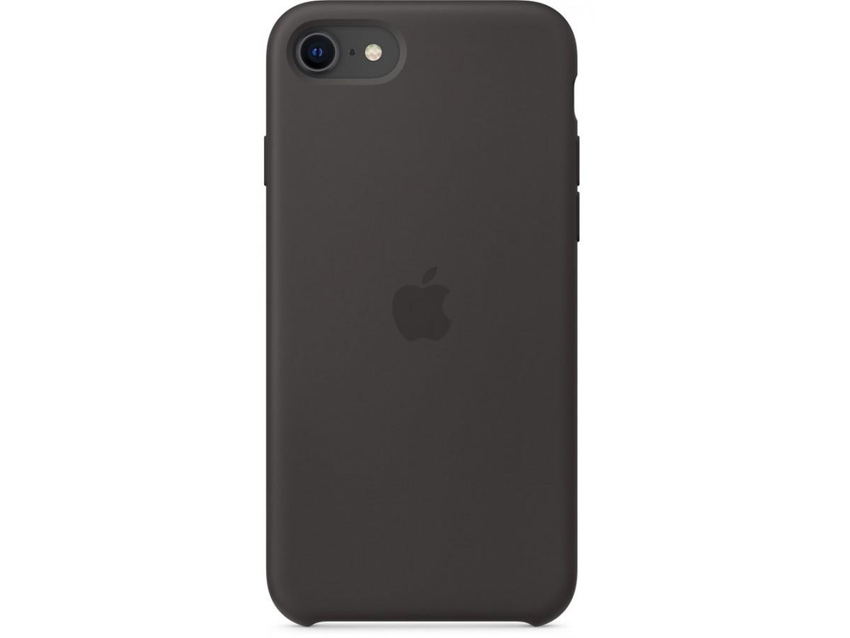 Чехол Silicone Case iPhone SE (2020) черный в Тюмени