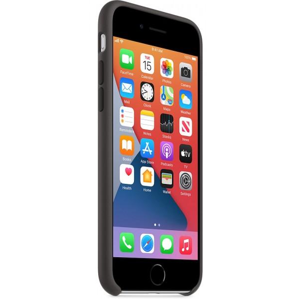 Чехол Silicone Case iPhone SE (2020) черный