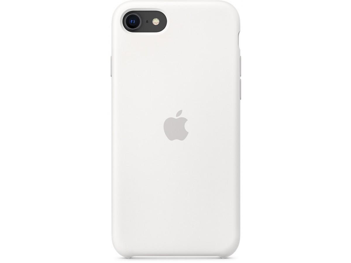 Чехол Silicone Case качество Lux для iPhone SE 2020 белый в Тюмени
